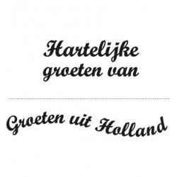 cs0898 / clear stamp groeten uit holland-groeten van