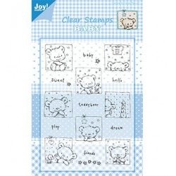 6410-0321 / clear stamp Beren met tekst-sweet-baby