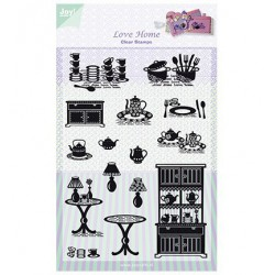 6410-0318 / clear stamp Love Home
