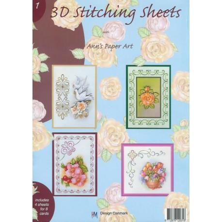 3-D Stitching Sheets 1 Bloemen