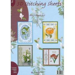 3-D Stitching Sheets 02 Bloemen