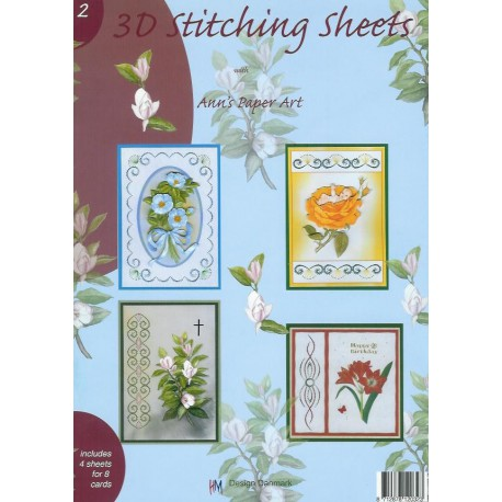 3-D Stitching Sheets 02 Bloemen