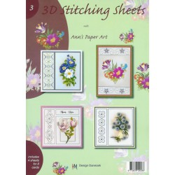 003 / 3-D Stitching Sheets Bloemen