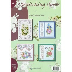 3-D Stitching Sheets 04 Bloemen