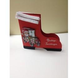 0199010121 / Kerstlaars rood dubbele kaart