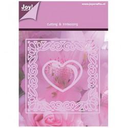 1201-0092 / Vierkant / bloem + hart