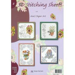 3-D Stitching Sheets 08 Bloemen/Div