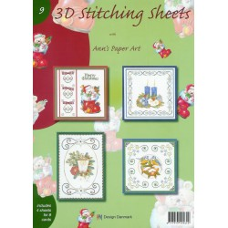 3-D Stitching Sheets 09 Kerst