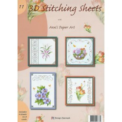 3-D Stitching Sheets 11 Bloemen
