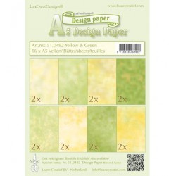 LCR51.0492 / Design Paper - Yellow/green