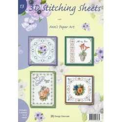 3-D Stitching Sheets 13 Bloemen