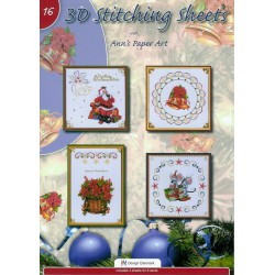 3-D Stitching Sheets 16 Kerst