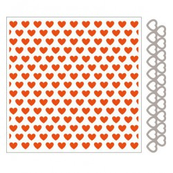 DF3413 / Design Folder + Die - Hearts(incl.Matching Die)