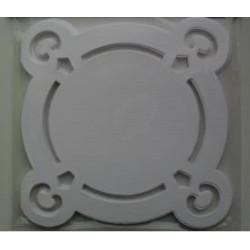 ALL0199012011 / Dubbele kaart sier/rond wit