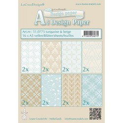 LCR51.0775 / design paper turquoise/beige