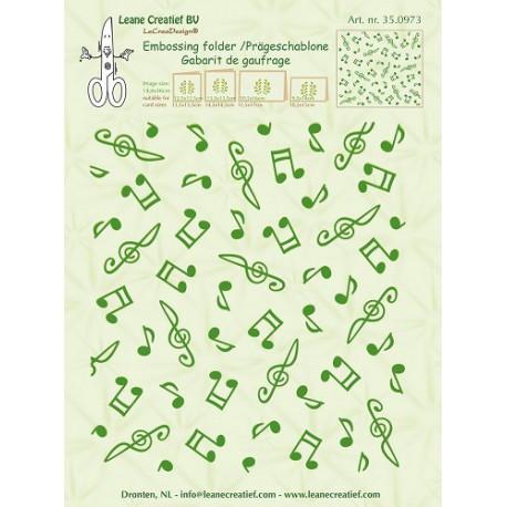 LCR35.0973 / Background Musical symbols 14.4x16cm