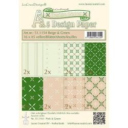 LCR51.1154 / design paper beige&green