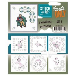 COSTDO10006 / Stitch & Do cards only setje 6