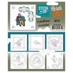 COSTDO10006 / Stitch & Do cards only setje 6