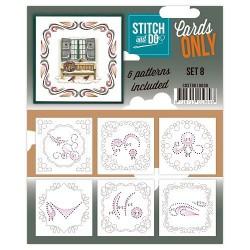 COSTDO10008 / Stitch&Do cards only setje 8