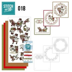 STDO018 / Snowman and reindeer