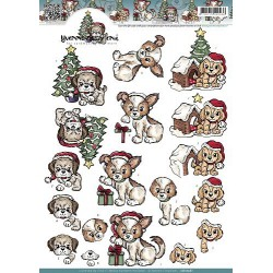 CD10561 / Christmas puppies