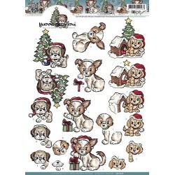 CD10561 / Christmas puppies