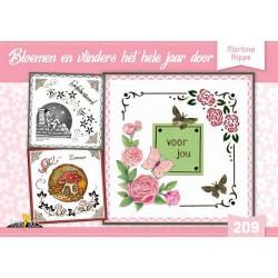 209 / Hobbydols bloemen en vlinders het hele jaar door