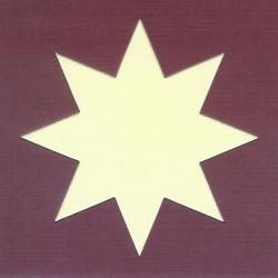 Oplegkaartje Ster + ster 12,5 x 12,5 cm