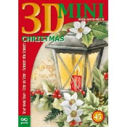 45 / 3-D mini boekje kerst