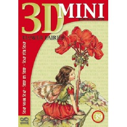 39 / 3-D Mini Boekje Flower Fairies