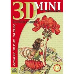 39 / 3-D Mini Boekje Flower Fairies