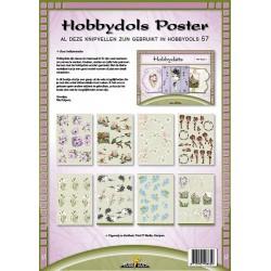 57 / Knipvel poster Hobbydols 57 met Hobbydots