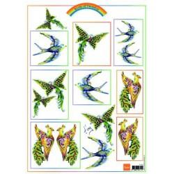 IT555 / Knipvel Birds Pink