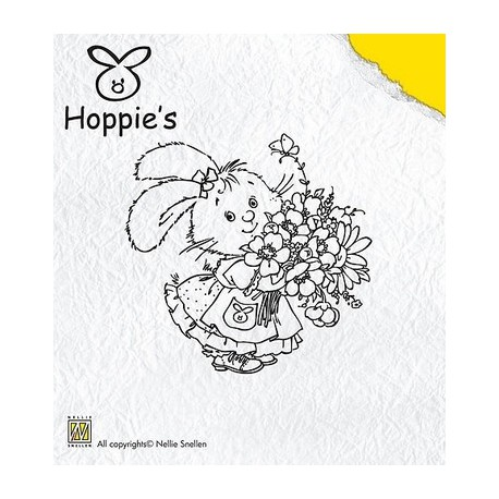 Hop002 / Hoppie flowers stempel