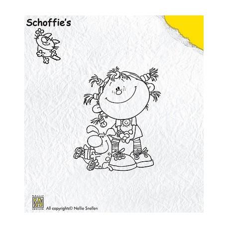 Schof004 / Schoffie taily hair stempel