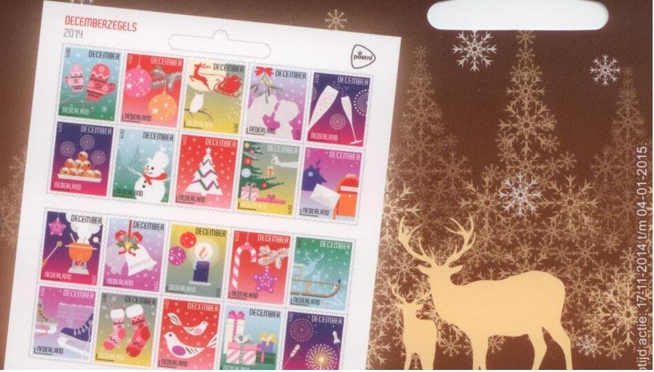 kerstpostzegels 2014 2015