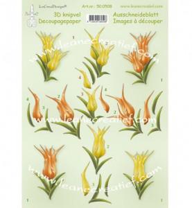 lcr50.0508 3D knipvellen - Tulips