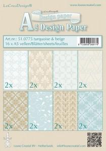 LCR51.0775 design papier turq-beige