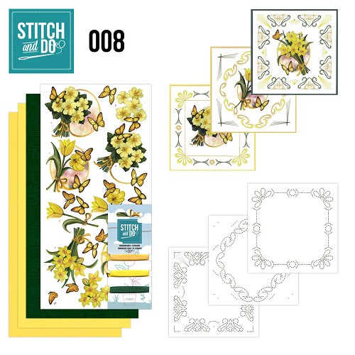 Stitch & Do 8 – Gele bloemen