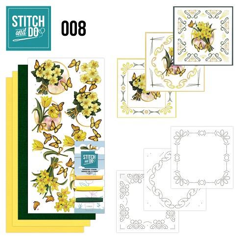 Stitch & Do 8 – Gele bloemen
