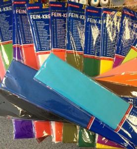 18 kleuren crepe papier