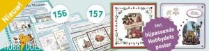 Hobbydols 156 en 157 + bijbehorende knipvel poster